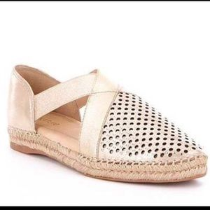 Nurture Cantrell Perforated Leather Espadrilles
